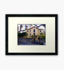 Lovely House on Lake of Como Framed Print