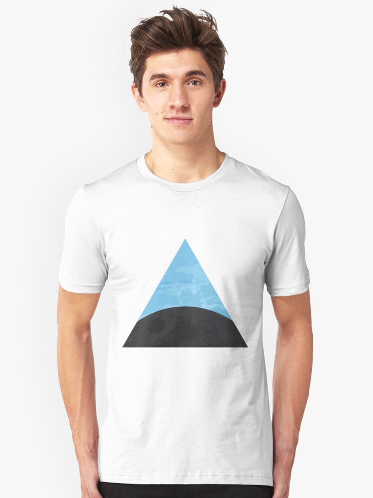 Moon Clouds Triangle Unisex T-Shirt Front