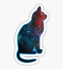 Space cat, Universe, Kosmos, Galaxy, Star Sticker
