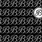 Letter B Monogram In Black And White by Almdrs