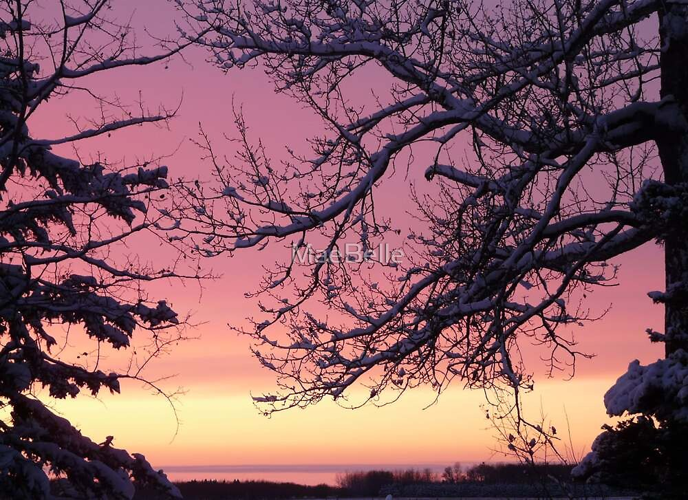 Sunset Christmas Eve by MaeBelle