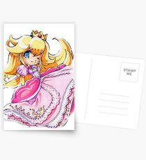 Chibi Princess Peach Postcards