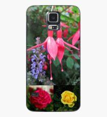Erinnerungen an den Sommer - Floral Collage Hülle & Klebefolie für Samsung Galaxy