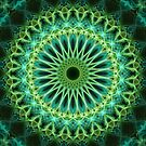 Pretty glowing green mandala by JBlaminsky
