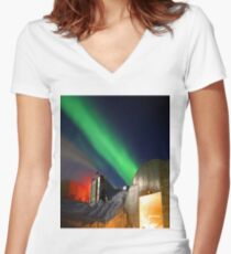 Antarctic Night Women's Fitted V-Neck T-Shirt