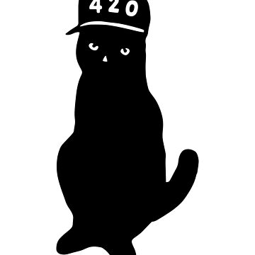 420 Four Twenty Pussy Cat TShirt Awesome Weed Stoner Summer Christmas Birthday or St Valentines Day Gift Idea for Boys Girls Women Men by legologo