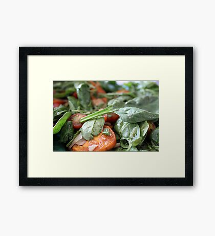 Baby Spinach and Sweetpotato Salad Framed Print
