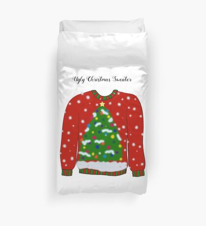 Ugly Christmas Sweater Duvet Cover