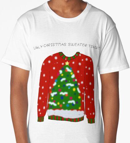 Ugly Christmas Sweater Long T-Shirt