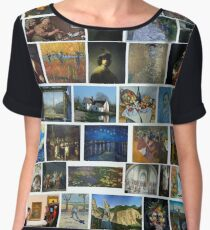 Most Famous Paintings, #Most, #Famous, #Paintings, #FamousPaintings, #VanGogh, #StarryNight, #VincentVanGogh Chiffon Top