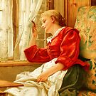 Victorian Illustration: Lady at the Window 1 by VictorianTrends