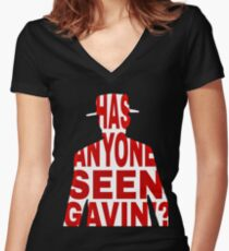 Gavin's Friend-RDR2 Women's Fitted V-Neck T-Shirt
