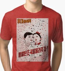Our children Celebrate spring's arrival propaganda poster  Tri-blend T-Shirt