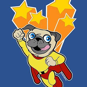Mighty Pug by darklordpug