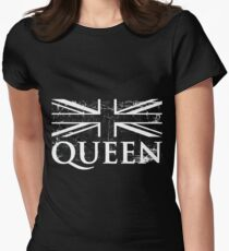 Pride Bohemian Queen Vintage Grunge On White Women's Fitted T-Shirt