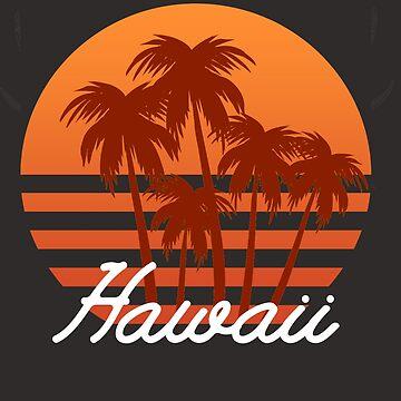 Retro Vintage 70's Hawaiian The Aloha State  by YuliyaR