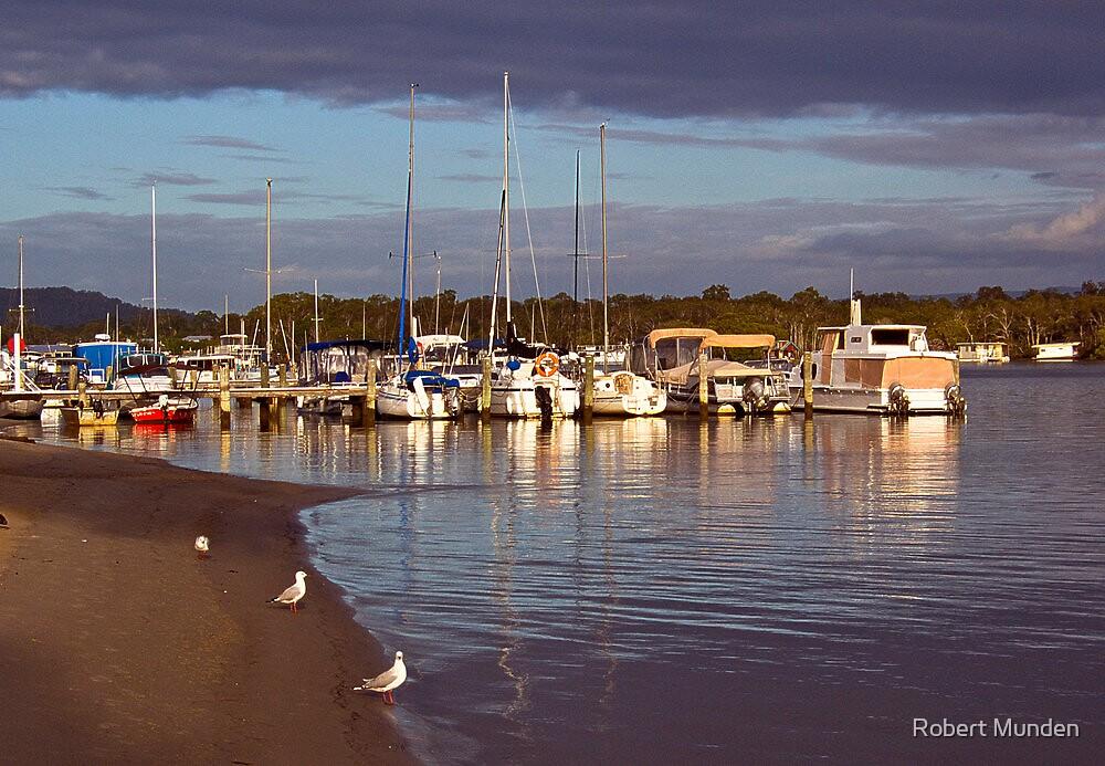 Yacht club jetty by Robert Munden