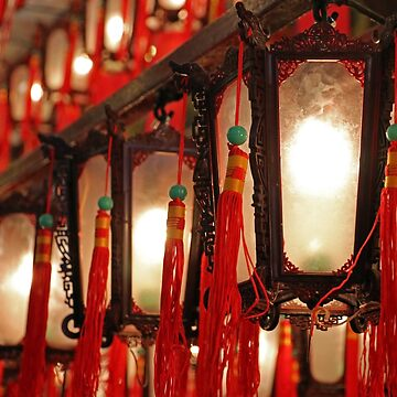 Lanterns at Man Mo Temple, HK.  by Scully