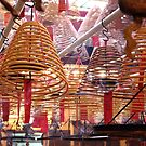 Incense Coils at Man Mo Temple, HK. by Gillian Anderson LAPS, AFIAP
