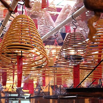 Incense Coils at Man Mo Temple, HK. by Scully