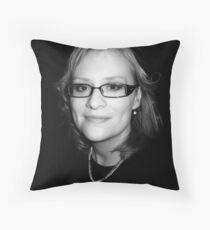 Sanna in black Throw Pillow