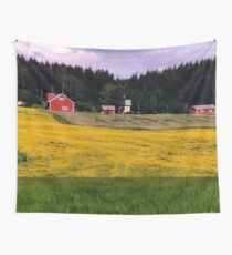 a historic Finland landscape Wall Tapestry