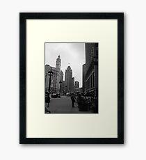 Great grey utopia Framed Print
