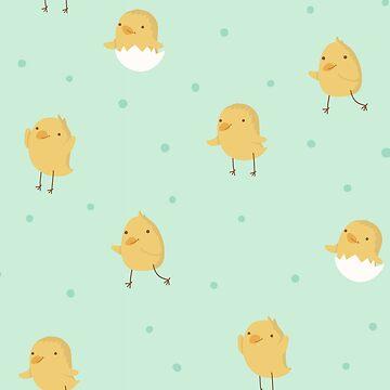 Cute chicken pattern by love999