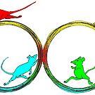 Mice on wheels by David Fraser