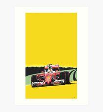 Ferrari Grand Prix racing car Art Print
