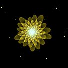 Shiny Star floral by Joan Marie Flaherty