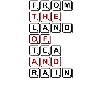 From The Land of Tea and Rain Logo - Light variant by teaandrain