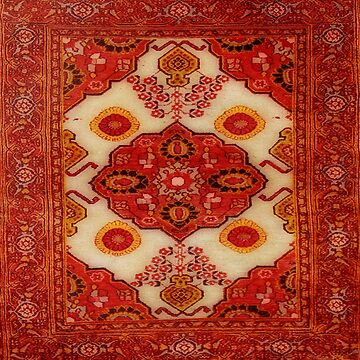 Persian carpet look in copper color by almawad