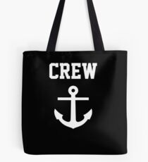 Crew Anchor Nautical Gift Sailing Ship Yacht Design Tote Bag