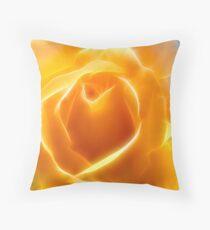 Apricot Glow Throw Pillow