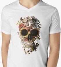Garden Skull Light V-Neck T-Shirt