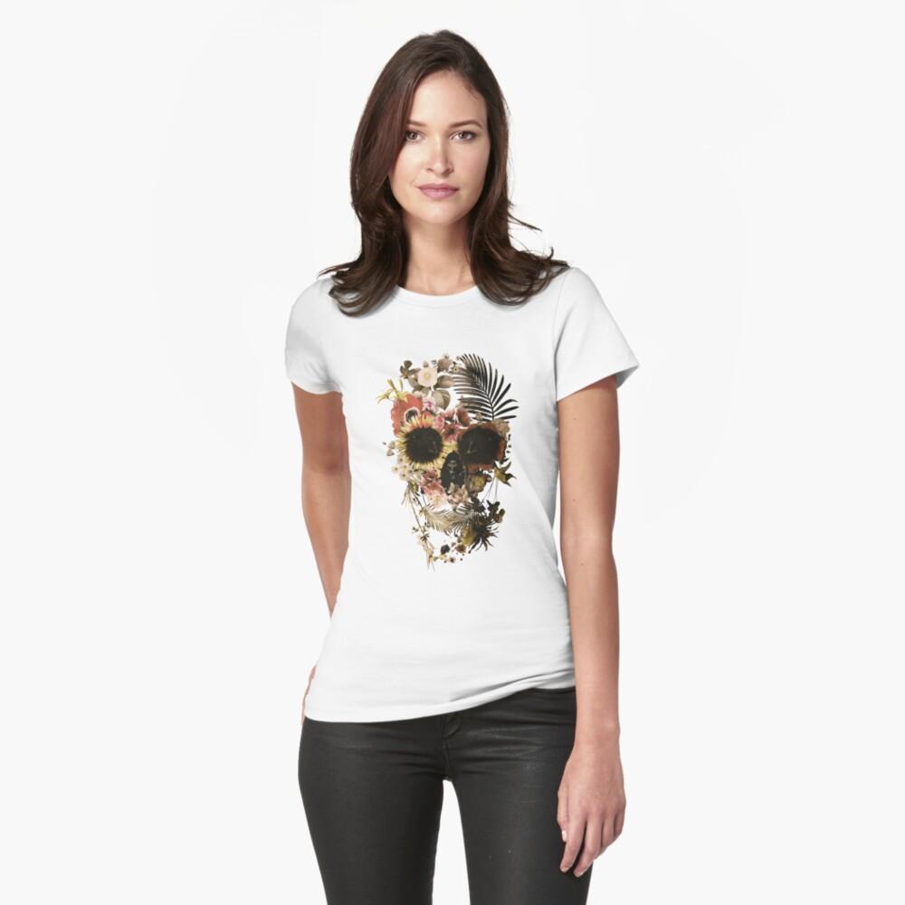 Garden Skull Light Fitted T-Shirt