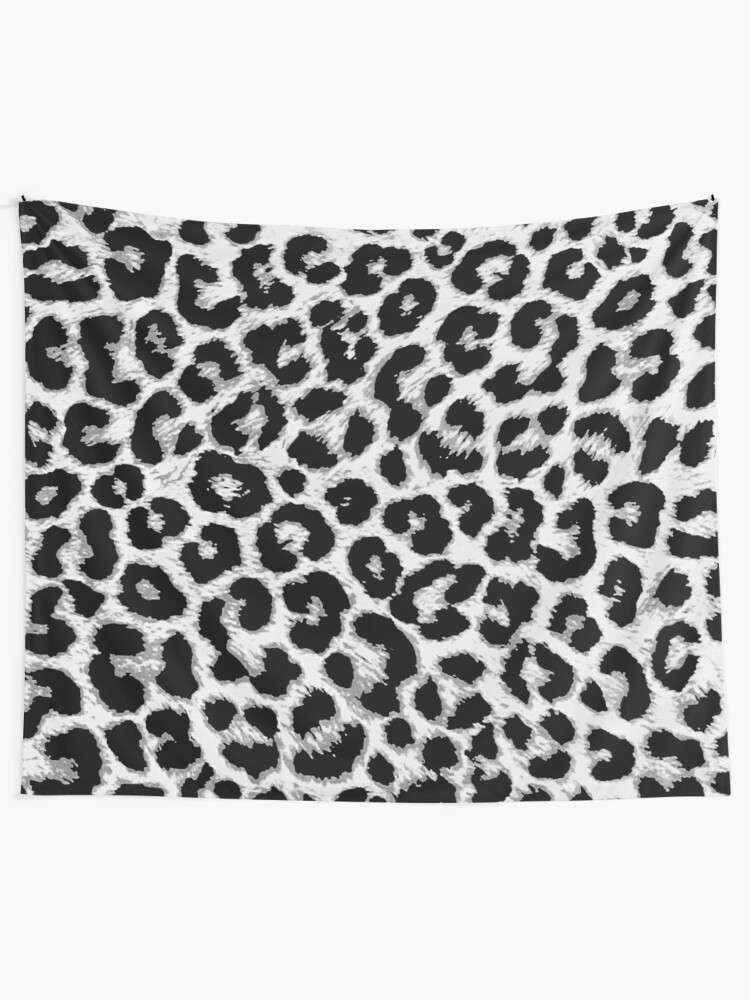 Alternate view of ReAL LeOparD B&W Tapestry