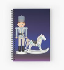 Toy Soldier with Rocking Horse on Christmas Eve Spiral Notebook