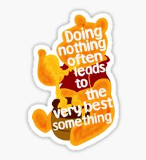 Doing nothing bear Sticker