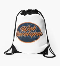 Web Developer Logo Drawstring Bag