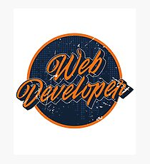 Web Developer Logo Photographic Print