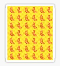 Fluttering Butterflies - Yellow And Orange Sticker