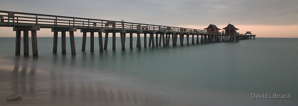Sunset over Pier by David Librach - DL Photography -
