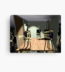 Saturday night easels  Canvas Print