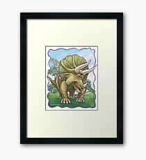 Animal Parade Triceratops Framed Print