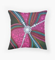 Abstract Dot Painting INNER FREEDOM by Dutch Artist Tessa Smits Throw Pillow