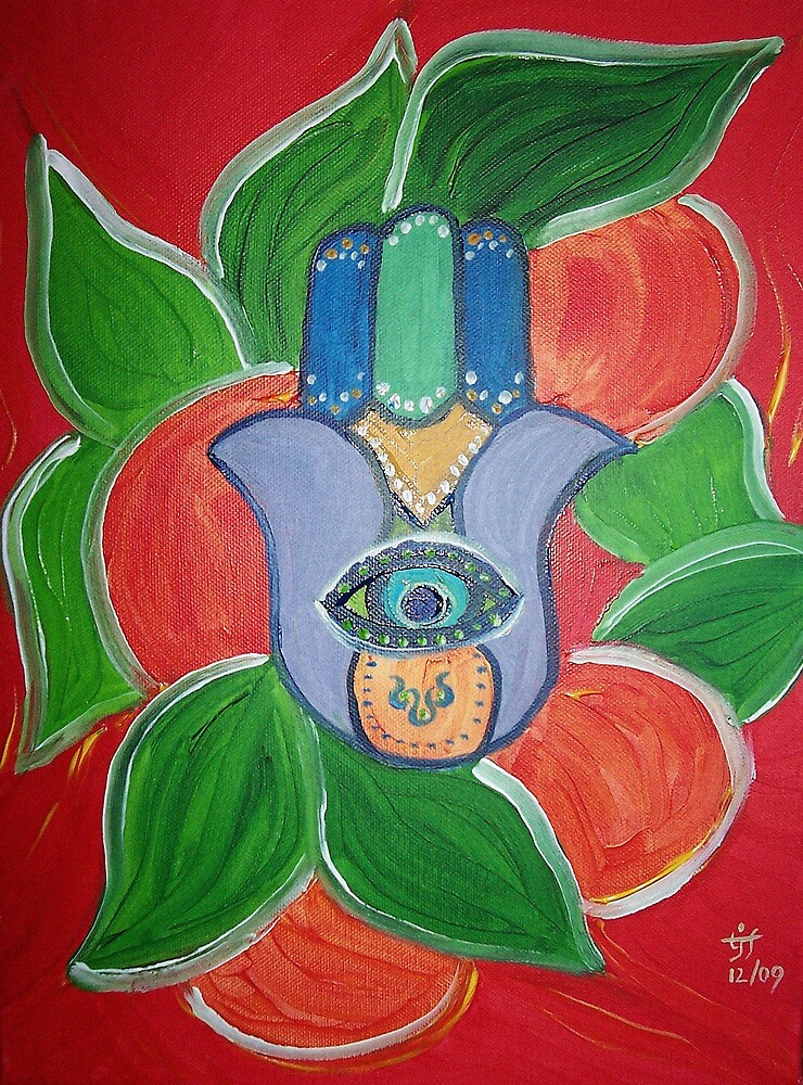 Orange-Hamsa by TrixiJahn