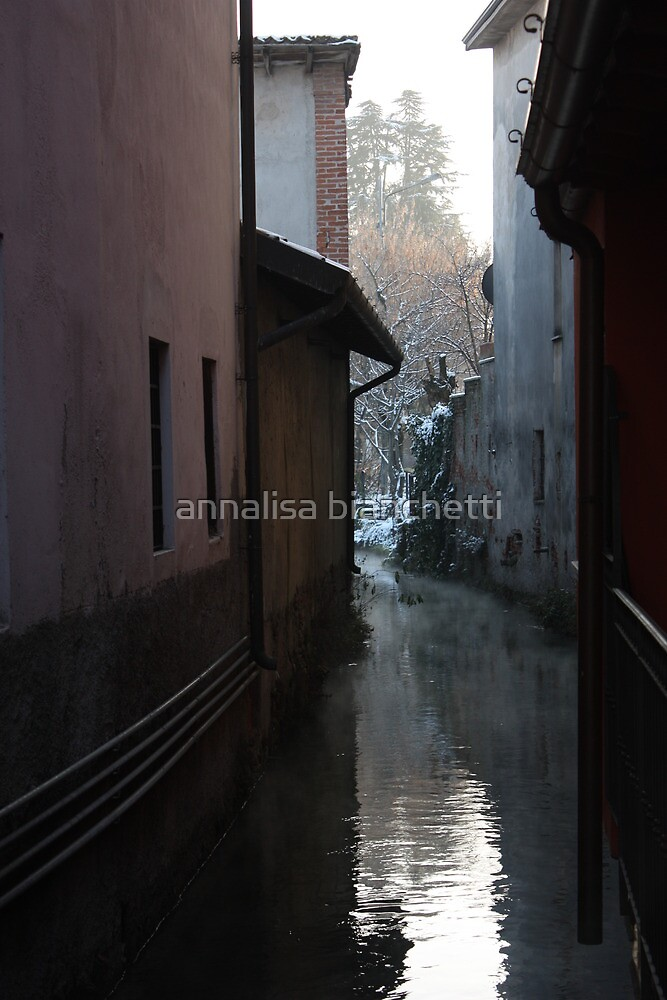 River between the houses by annalisa bianchetti