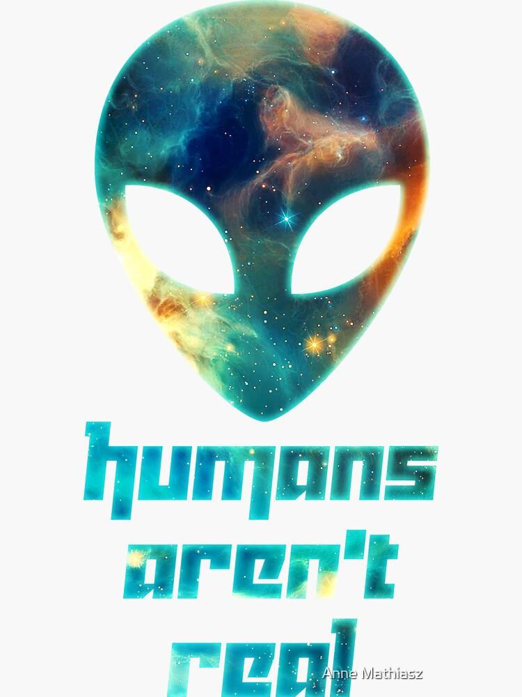 Galaxia alienígena - los humanos no son reales de boom-art